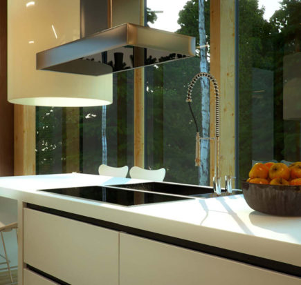 Top cucina in solid surface