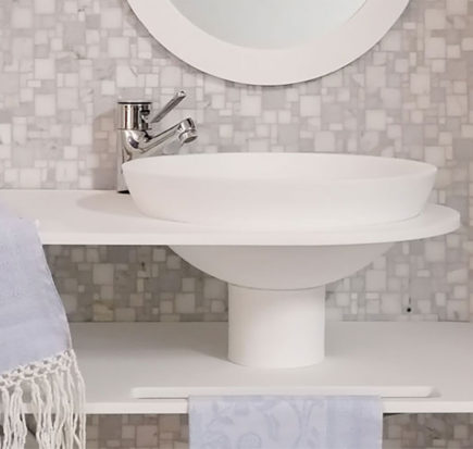 Lavabo in Krion - Solid Surface