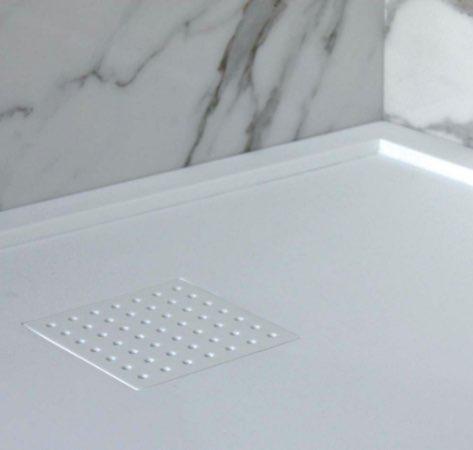 Piatto doccia con piletta a scomparsa - Solid Surface